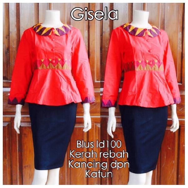 Model Blouse Batik Wanita Kombinasi Modern Terbaru Harga Grosir