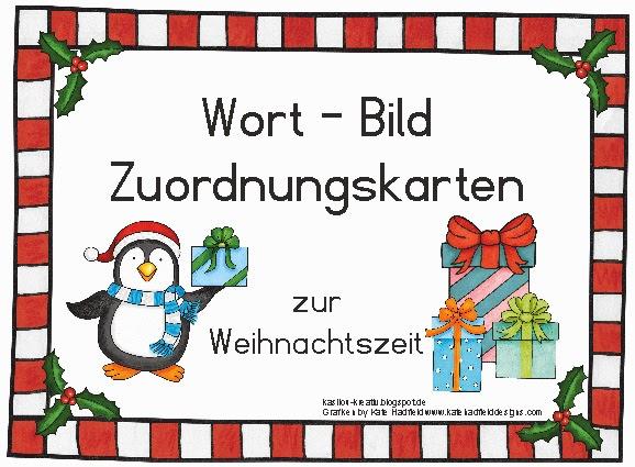 kasilou: Wort-Bild-Zuordnungskarten zur Weihnachtszeit