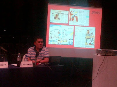 Otto Fong sharing of his experience as published comic artist.