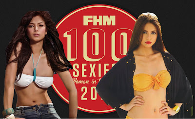 Sam Pinto Angel Locsin FHM 100 Sexiest Woman in the World Leader