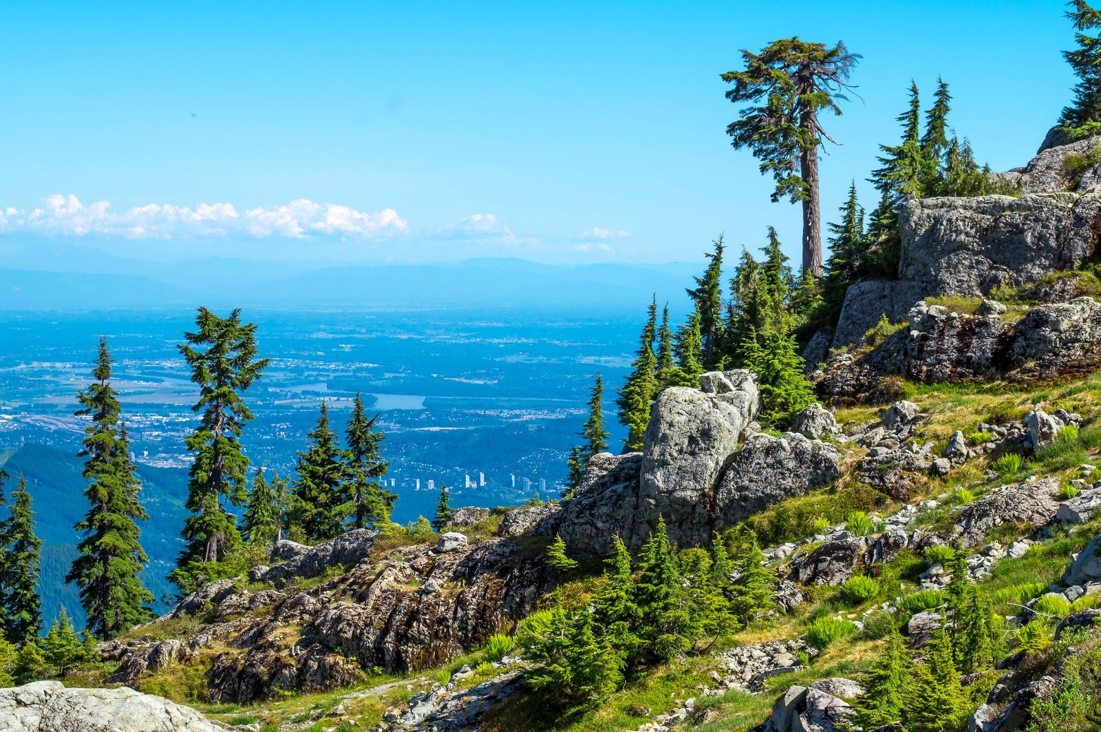 виды на Ванкувер и на долину реки Фрейзер