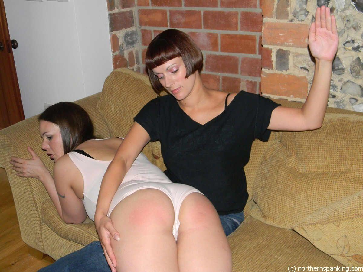 Spank bare step sister