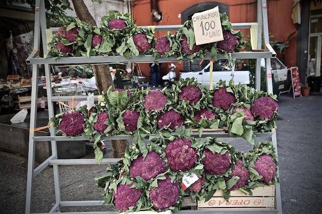 purple cauliflowers, catania,