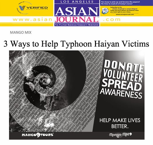 Mango Tours Mango Mix Help Haiyan Victims Asian Journal