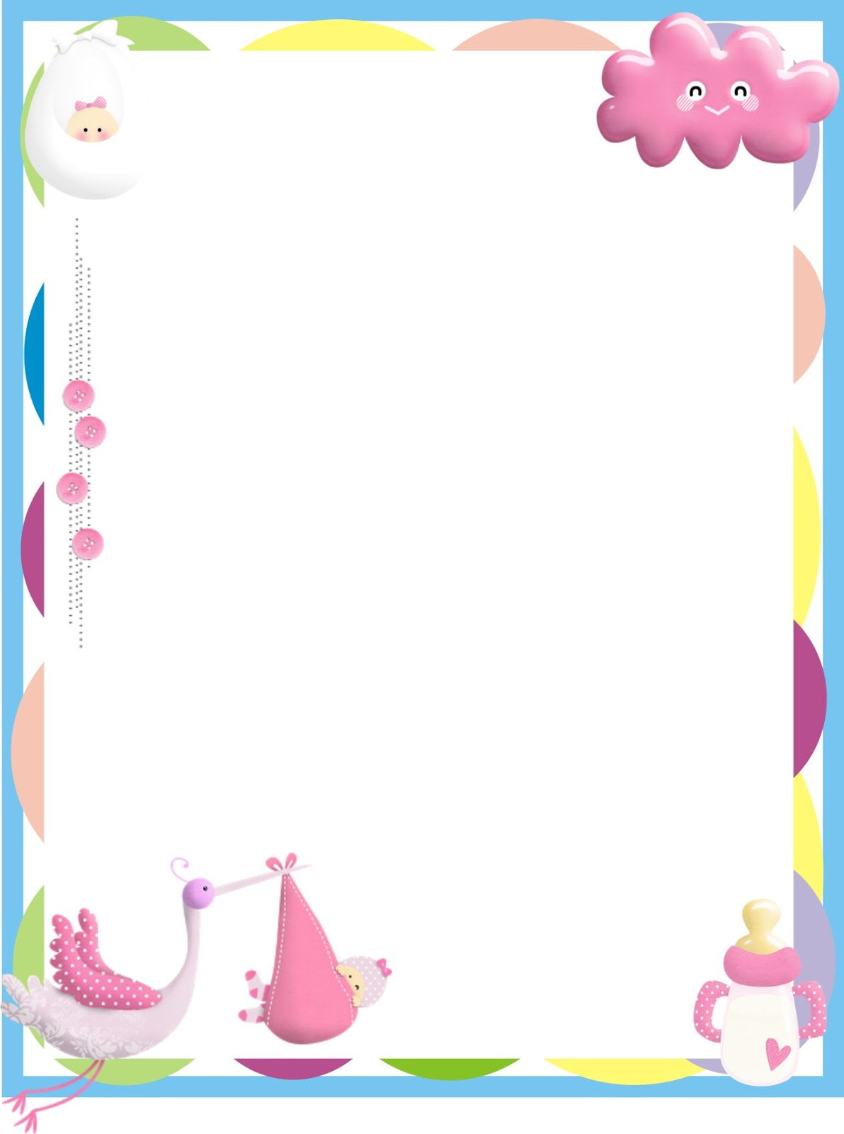 BORDERS FOR KID: DISEÑO GRAFICO BABY SHOWER