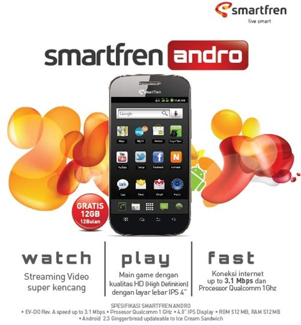 smartfren andro merupakan produk bundling kedua dari smartfren yang