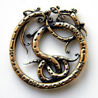 купить кулон змей кельтский скандинавская подвеска украина