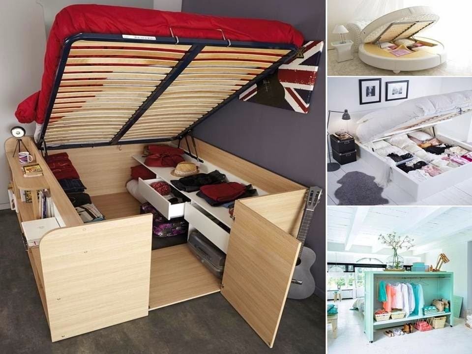 Home decor clever storage ideas to use bedroom furniture for small spaces - Storage ideas for small space decoration ...