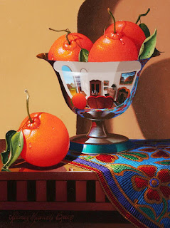 bodegon con naranjas pintadas al oleo