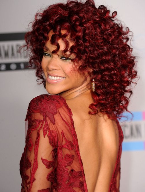 ... weave: Celebrity hair weave-Rhianna red hair weave hairstyle pictures