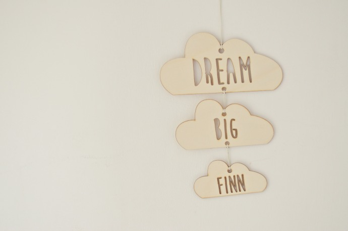 we are scamp, unisex nursery, cloud nursery