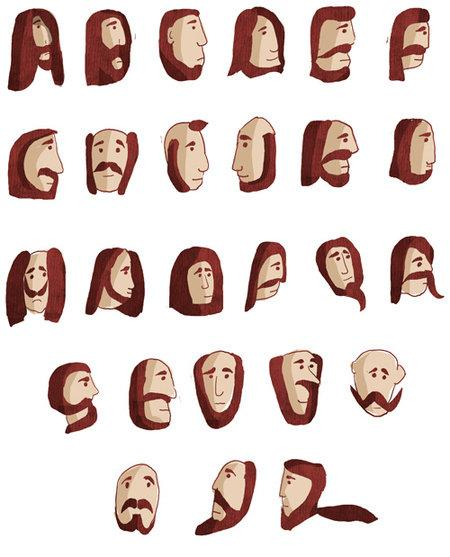 Alphabet of Beard