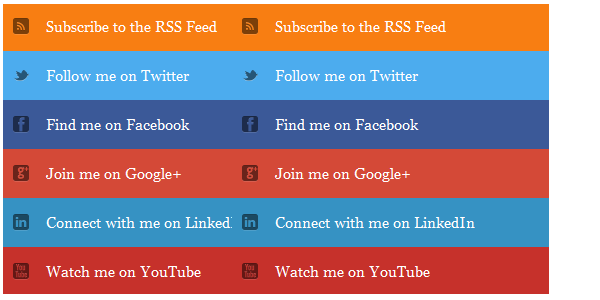 social Media Subscription widgets For Blogger