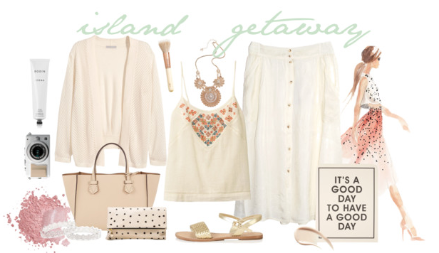 Island getaway outfit inspiration from @faitboum on Polyvore