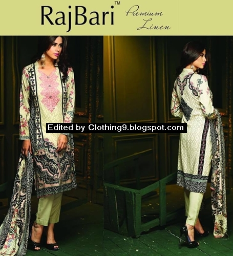 RajBari Winter Linen Collection 2015