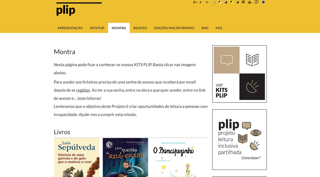 PLIP - Projeto de Leitura Inclusiva Partilhada