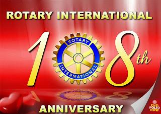 Rotary International 108 Anniversary