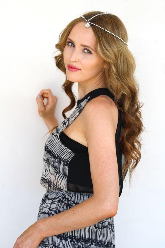 Bohemian Style, Summer Style, 5th&Farmer Headpiece, Maxi Dress