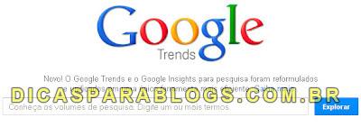 Google Trends: Palavras mais pesquisadas