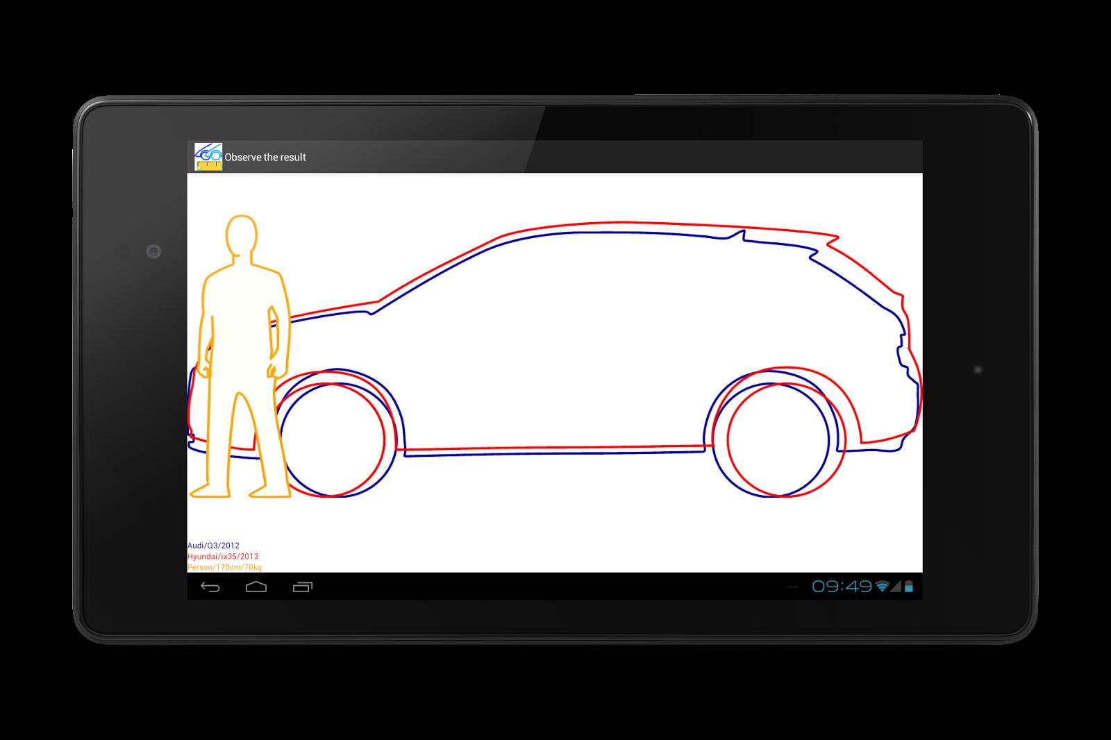 Audi q3 2012 vs hyundai ix35 2013 compare dimensions visually www car compare org compare