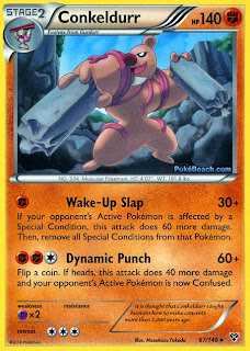 Conkeldurr Pokemon X and Y Card
