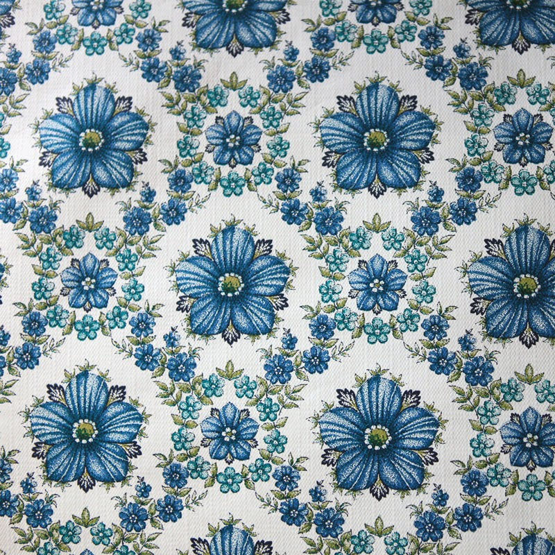 Blue Floral Vintage Free Download Wallpaper (800 x 800 )
