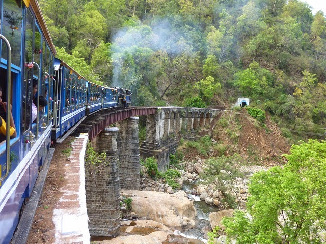 Nilgiri Mountain Railway crossing over a Bridge