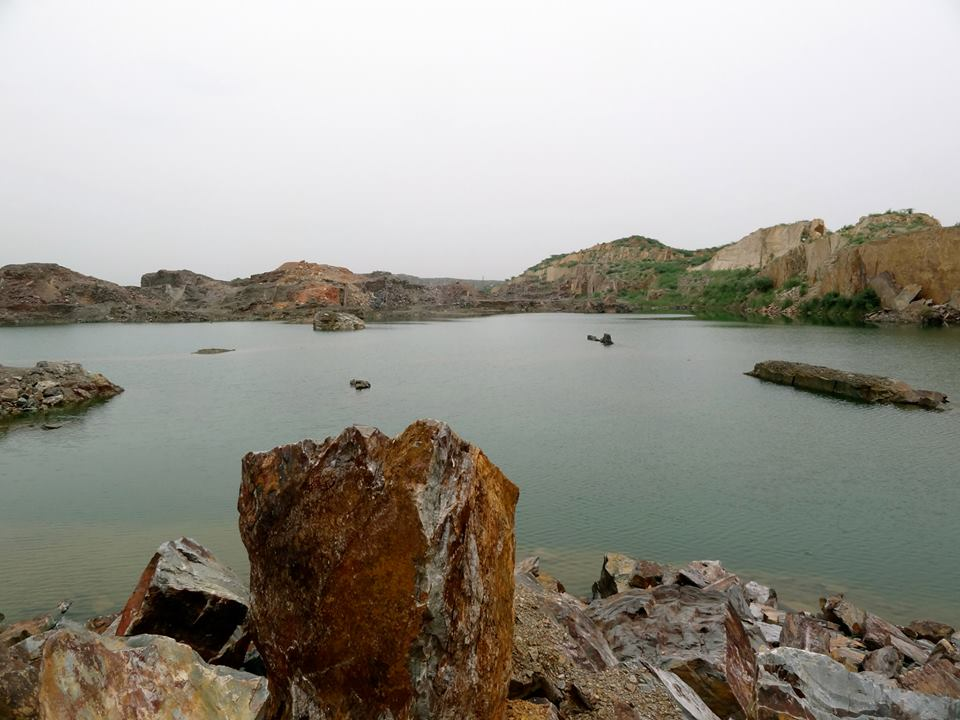 Pristine hidden lake cluster in the Aravallis near Delhi