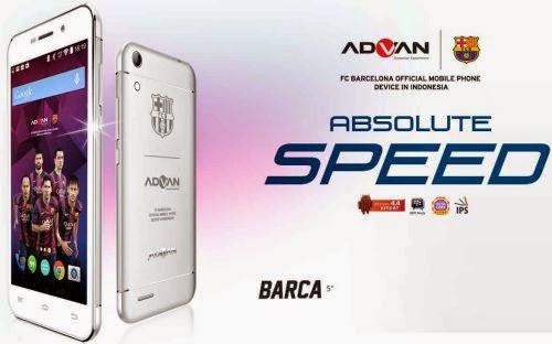 Harga Advan Barca 5 S5Q, Smartphone Edisi Barcelona, Spesifikasi Advan Barca 5 S5Q, Ponsel Bertema Barcelona, Spesifikasi Advan Barca 5 S5Q, Android KitKat Octa Core,