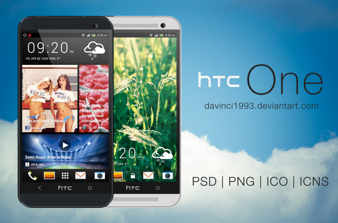 HTC One PSD Template