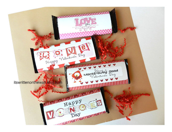 Valentine Candy Bar Wraps-Chocolate