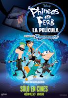 Cartel de Phineas y Ferb: A través de la segunda dimensión