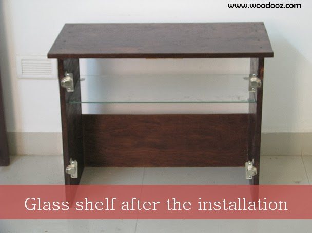 How to install glass shelf