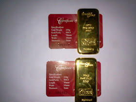 Gold Bullion Bar, 250gm