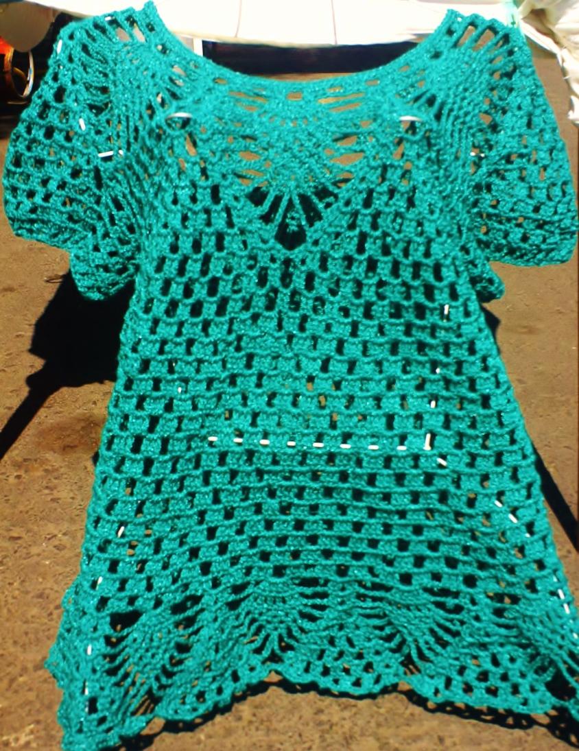 curiosicosas: blusa tejida con piñas