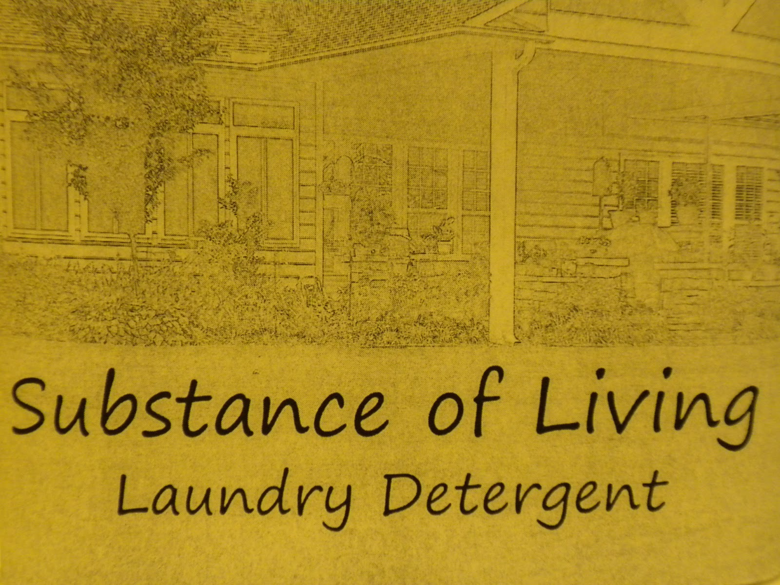 Substance of Living Laundry Detergent Label