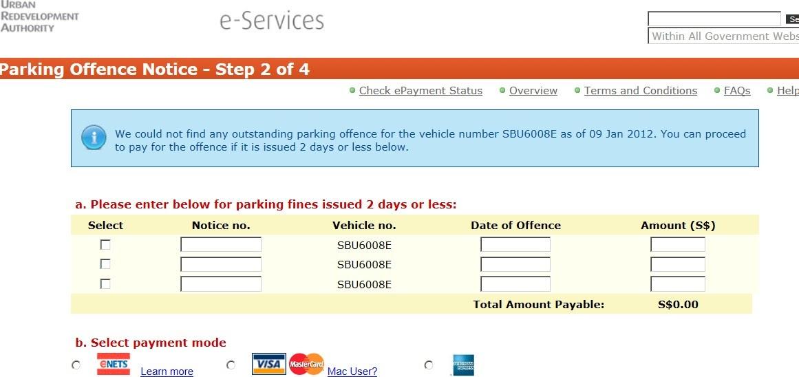 Reuse parking coupon fine