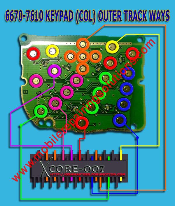 7610 keypad ic jumper. Nokia 6670 / 7610 Keypad Track