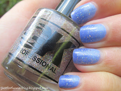 GK Holo Top Coat over Gradient KIKO 338 KIKO 337
