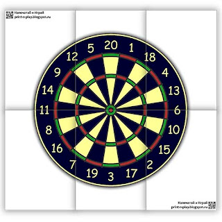 full size dartboard