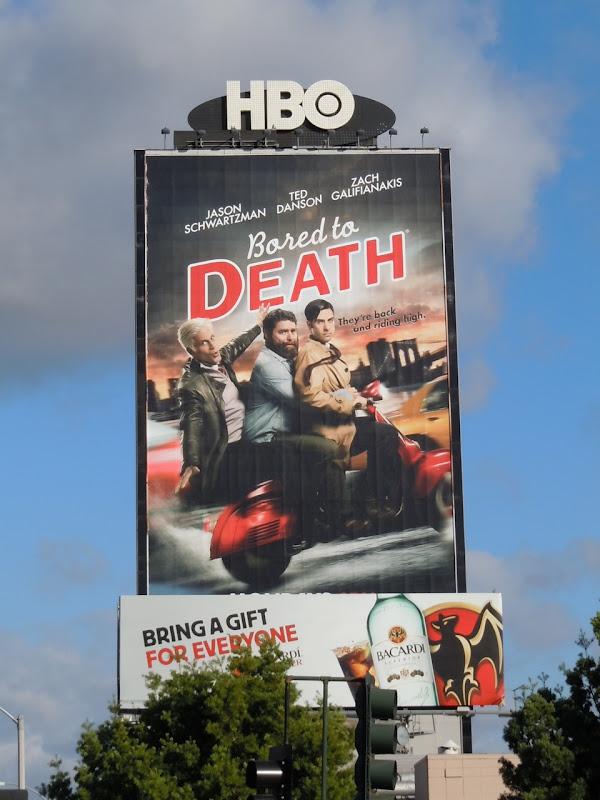 Bored to Death season 3 TV billboard