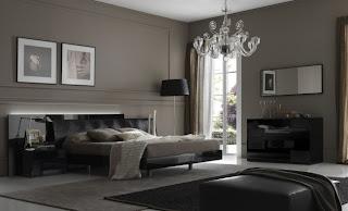 diseño de dormitorio oscuro