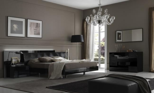 Habitaciones con colores oscuros dormitorios con estilo for Cuarto negro con gris