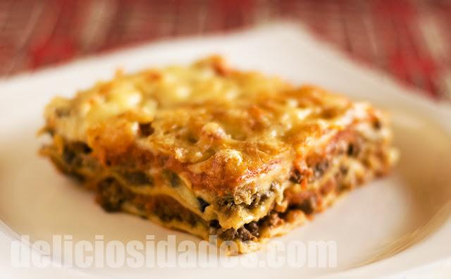 deliciosidades - Lasaña de ragú con pasta fresca casera