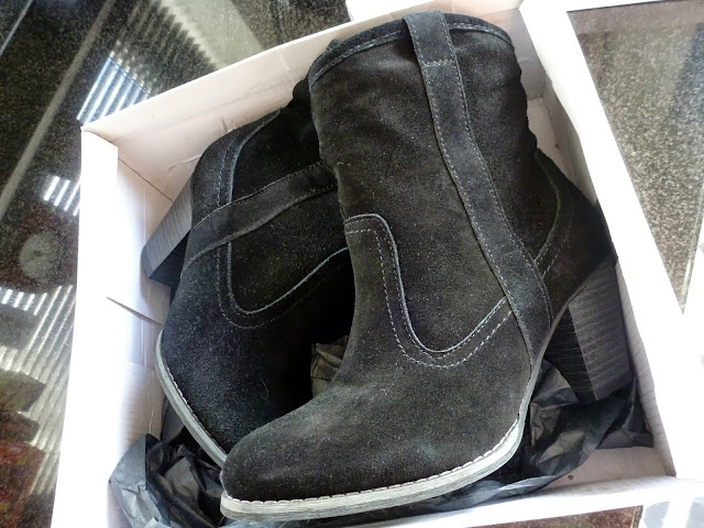 A picture of Barratts Black Suede Western Style Boots