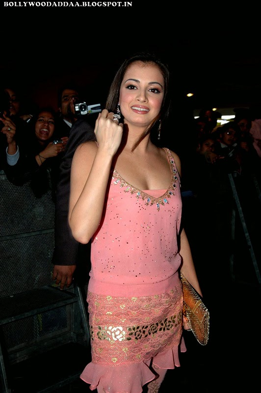 Diya Mirza looks hot and sexy in pink skirt