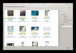 openSUSE 12.3 DARTMOUTH KDE RC1 DOWNLOAD Widgets