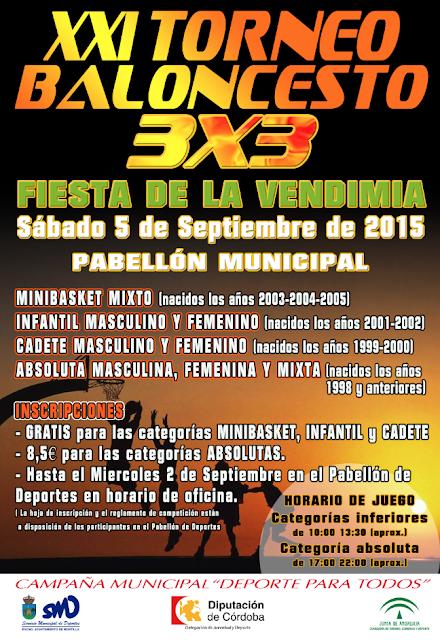 XXI Torneo Baloncesto 3x3 Fiesta de la Vendimia