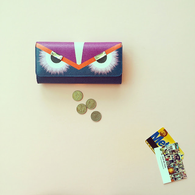 Fendi wallet, Fendi monster continental wallet, fashion blog, fendi bag, fendi monster