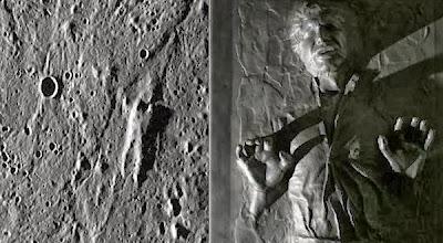 Foto Sosok Manusia di Permukaan Merkurius